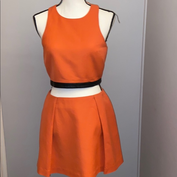 Andrew Marc Matching Top and Skirt Set
